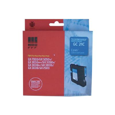 Ricoh GC 21C - cyan - original - ink cartridge ICOH AFICIO GX3000 GX3050N GX5 050N AVG YIELD 1 000