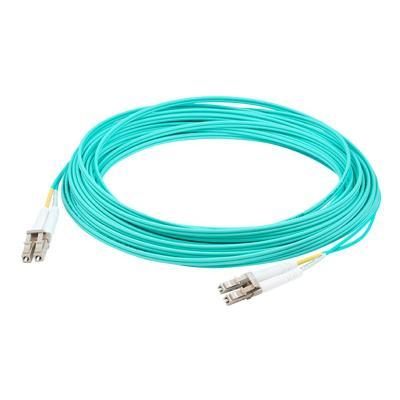 AddOn 1m LC OM4 Aqua Patch Cable - patch cable - 1 m - aqua male) aqua duplex riser-rated fiber patch cable. A