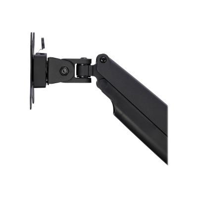 StarTech.com Desk Mount Monitor Arm, Heavy Duty Ergonomic VESA Monitor Arm, Single Display up to 9kg, Full Motion, Height Adjustable, Articulating, Aluminum, C-Clamp/Grommet, Black - Small Footprint Design (ARMPIVOTHDB) - mounting kit - for LCD display (adjustable arm)