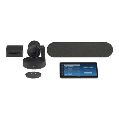 Logitech Tap pour les équipes Microsoft Salles moyennes - kit de vidéo-conférence - avec Intel NUC (spécification minimale - Core i5 8ème Gen, 8 Go RAM, 240 Go SSD)