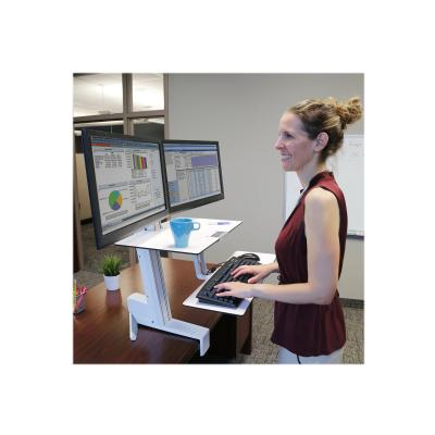 Ergotron WorkFit-S Dual Workstation with Worksurface Standing Desk - mounting kit - for 2 LCD displays / keyboard / mouse E KYB TRAY BRGHT WHT