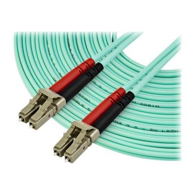 StarTech.com 10 m OM4 LC to LC Multimode Duplex Fiber Optic Patch Cable- Aqua - 50/125 - Fiber Optic Cable - 40/100Gb - LSZH (450FBLCLC10) - patch cable - 10 m - aqua  CABL