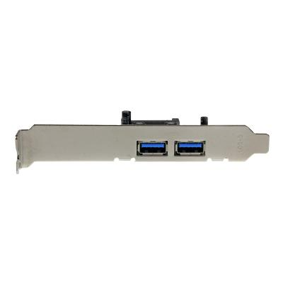 StarTech.com 2 Port PCI Express (PCIe) SuperSpeed USB 3.0 Card Adapter with UASP - SATA Power - Dual Port USB 3 PCIe Controller (PEXUSB3S24) - USB adapter - PCIe - USB 3.0 x 2  with SATA power to your PCI E xpress-enabled PC -