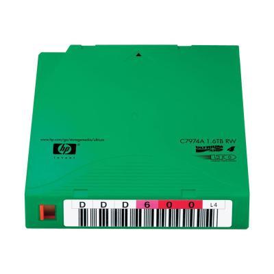 HPE Ultrium Non-Custom Labeled Data Cartridge - LTO Ultrium 4 x 20 - 800 GB - storage media l 20 Tapes Media comes with a unique  pre-sequence