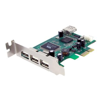 StarTech.com 4 Port PCI Express Low Profile High Speed USB Card - PCIe USB 2.0 Card - PCI-E USB 2.0 Card (PEXUSB4DP) - USB adapter - PCIe - 4 ports w profile/small form factor co mputer through a PCI