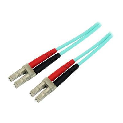 StarTech.com Aqua OM4 Duplex Multimode Fiber - 1m / 3 ft - 100 Gb - 50/125 - OM4 Fiber - LC to LC Fiber Patch Cable (450FBLCLC1) - network cable - 1 m - aqua SR10  SFP and QSFP transceiver s in 40 and 100 Giga