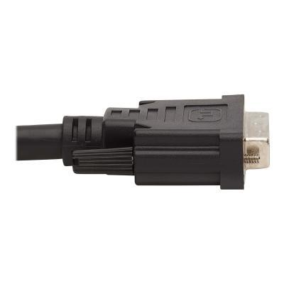 Tripp Lite DVI KVM Cable Kit, 3 in 1 - DVI, USB, 3.5 mm Audio (3xM/3xM), 1080p, 6 ft., Black - video / USB / audio cable - 1.83 m USB 3.5mm Audio 3xM/3xM Black 6ft