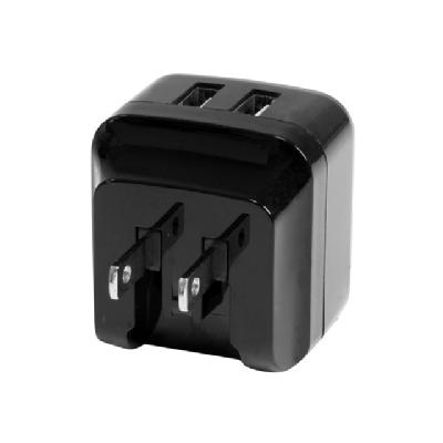 StarTech.com Dual Port USB Wall Charger 17W/3.4A - Travel Charger 110V/220V - power adapter  PWR