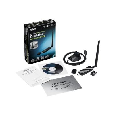 ASUS USB-AC56 - network adapter - USB 3.0  USB 3.0 Wifi Adapter with Inc luded Cradle 2 years