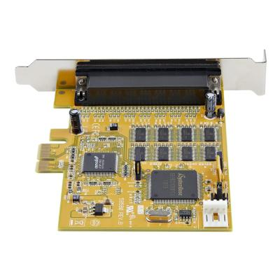 StarTech.com 8-Port PCI Express RS232 Serial Adapter Card, PCIe RS232 Serial Card, 16C1050 UART, Multiport Serial DB9 Controller/Expansion Card, 15kV ESD Protection, Windows & Linux - Up to 921.6 Kbps Baud (PEX8S1050) - serial adapter - PCIe - RS-232 x 8 - TAA Compliant 2CTLR