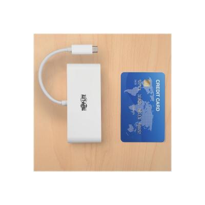 Tripp Lite 2-Port USB-C to USB-A Hub Micro SD & SD/MMC Reader & USB Charging - hub - 2 ports  PERP
