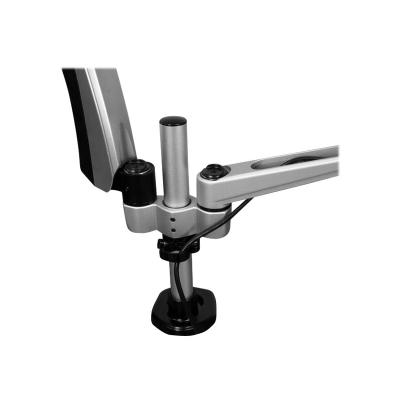 """StarTech.com Desk Mount Dual Monitor Arm - Articulating - Supports VESA Monitors 12"""" to 30"""" - Adjustable - Grommet / Desk Mount - Premium - Silver (ARMDUAL30) - mounting kit - for LCD display (full-motion) ON ARMS - STACKABLE"""