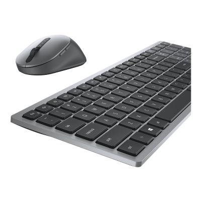 Dell Multi-Device Wireless Keyboard and Mouse Combo KM7120W - keyboard and mouse set  WRLS