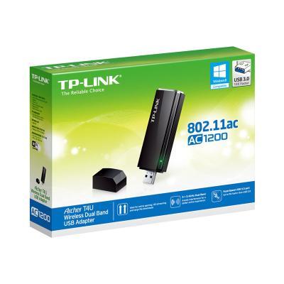 TP-Link Archer T4U - network adapter Adapter  Realtek  2T2R  867Mbp s at 5Ghz + 300Mbps