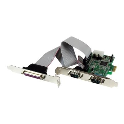 StarTech.com 2S1P Native PCI Express Parallel Serial Combo Card with 16550 UART - PCIe 2x Serial 1x Parallel RS232 Adapter Card (PEX2S5531P) - parallel/serial adapter - PCIe 32 serial ports to your standa rd or low-profile co