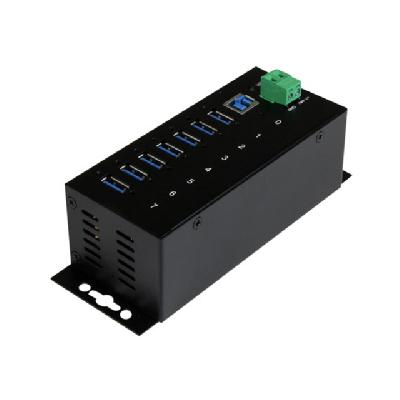 StarTech.com 7 Port Industrial USB 3.0 Hub - ESD and Surge Protection - hub - 7 ports  PERP