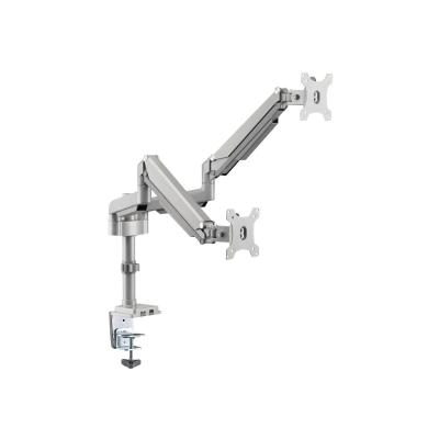 """Tripp Lite Dual-Display Flex-Arm Mount for 17"""" to 32"""" Monitors - Clamp or Grommet, USB, Audio Ports - mounting kit (full-motion)"""