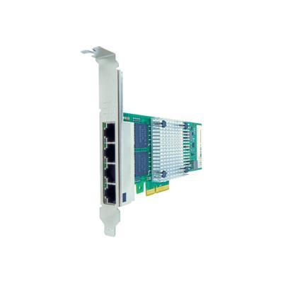 Axiom - network adapter - PCIe 2.1 x4 - Gigabit Ethernet x 4  RJ45 PCIe x4 NIC Card for Int el - E1G44HT
