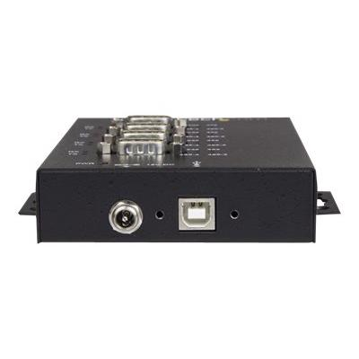 StarTech.com 4 Port Serial Hub USB to RS232/RS485/RS422 Adapter, Industrial USB 2.0 to DB9 Serial Converter Hub, IP30 Rated, Din Rail Mountable Metal Serial Hub, 15kV ESD Protection - 6ft Locking Cable Incl (ICUSB234854I) - serial adapter - USB 2.0 - RS-232/422/485 x 4 + USB 2.0 x 1 - TAA Compliant 5kV Level 4 ESD - IP30 rating metal USB to serial