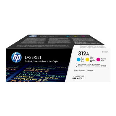 HP 312A Tri-Pack - 3-pack - yellow, cyan, magenta - original - LaserJet - toner cartridge (CF440AM) an;Magenta;Yellow - 2 700 page s - HP Color LaserJe