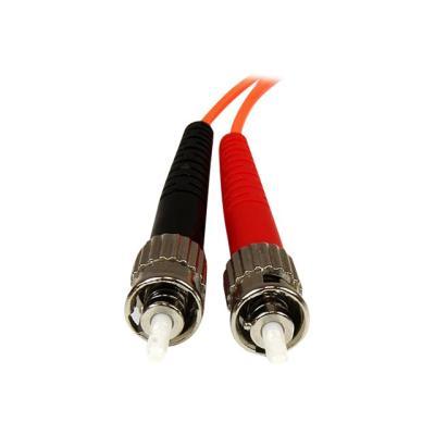 StarTech.com 3m Fiber Optic Cable - Multimode Duplex 50/125 - OFNP Plenum - LC/ST - OM2 - LC to ST Fiber Patch Cable - patch cable - 3 m - orange k between fiber network device s  for applications