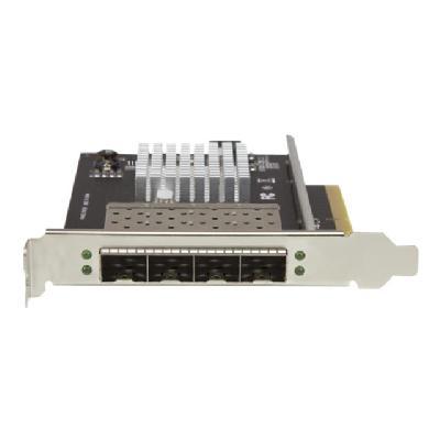 StarTech.com Quad Port 10G SFP+ Network Card, Intel XL710 Open SFP+ Converged Adapter, PCIe 10 Gigabit Ethernet Server NIC, 10GbE Fiber Optic LAN Card Dell PowerEdge HPE ProLiant, NIC Card - 10Gb SFP+ NIC Card (PEX10GSFP4I) - network adapter - PCIe x8 - 10 Gigabit SFP+ x 4  CTLR