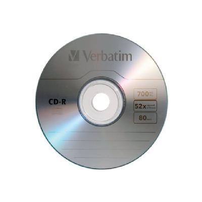 Verbatim - CD-R x 50 - 700 MB - storage media min ) 52x - spindle - storage media