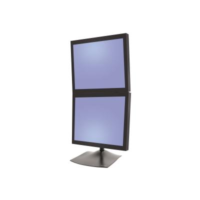 Ergotron DS100 Dual-Monitor Desk Stand, Vertical - stand - for 2 LCD displays onversion kit - Steel - Black ack