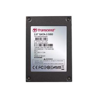Transcend SSD420I Industrial - solid state drive - 128 GB - SATA 6Gb/s Ind.  Bulk