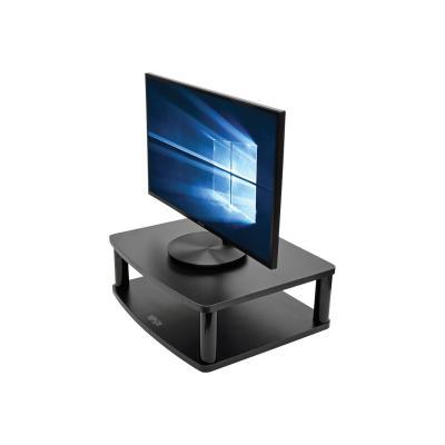 "Tripp Lite Adjustable Monitor Stand Display Riser, Swivel w/ Storage Shelf - monitor stand - up to 50"" /Riser lf"