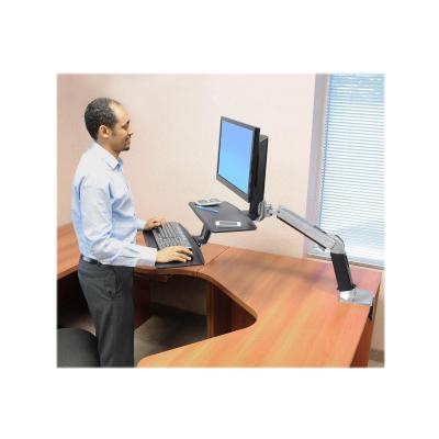 Ergotron WorkFit-A with Suspended Keyboard, Single LD Standing Desk - stand - for LCD display / keyboard (Asia Pacific, North America) ded Keyboard Single LD.Ideal f or corner workstatio