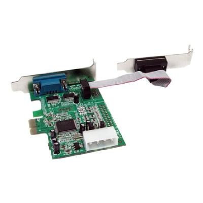 StarTech.com 2 Port Low Profile Native RS232 PCI Express Serial Card with 16550 UART - PCIe RS232 - PCI-E Serial Card (PEX2S553LP) - serial adapter - PCIe - RS-232 x 2  ports to your low profile/sma ll form factor compu