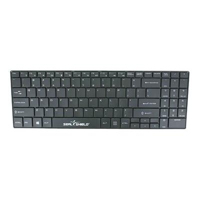 Seal Shield Clean Wipe Waterproof - keyboard - QWERTY - US - black roof  Antimicrobial  Low Profi le Chiclet Style  2.