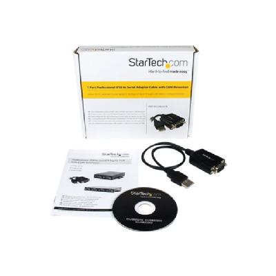 StarTech.com 1 Port Professional USB to Serial Adapter Cable with COM Retention - serial adapter h com retention to any laptop or computer with a U
