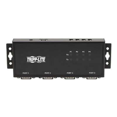 Tripp Lite RS-422/RS-485 USB to Serial FTDI Adapter with COM Retention (USB-B to DB9 F/M), 4 Ports - serial adapter - USB 2.0 - RS-422/485 x 4 RS-485 4PT
