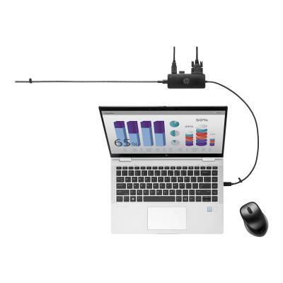 HP Travel Hub G2 - réplicateur de port - USB-C - VGA, HDMI
