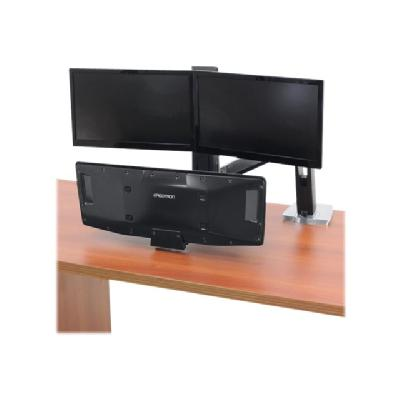 Ergotron WorkFit-A with Suspended Keyboard, Dual - pied r   sit-stand emplacement   do uble moniteurs  ( po