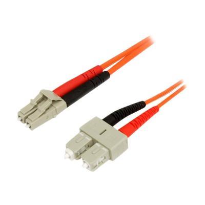 StarTech.com 5m Fiber Optic Cable - Multimode Duplex 62.5/125 - LSZH - LC/SC - OM1 - LC to SC Fiber Patch Cable (FIBLCSC5) - network cable - 5 m  CABL