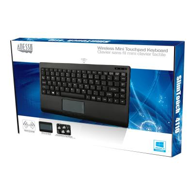Adesso Wireless Mini - keyboard - with touchpad - US  Keyboard with GlidePoint Touc hPad  Power Saving S