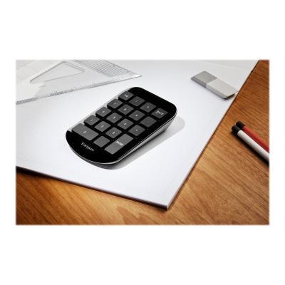 Targus Wireless Numeric - keypad - Canadian Bilingual - gray, black WITH MINI USB RECEIVER