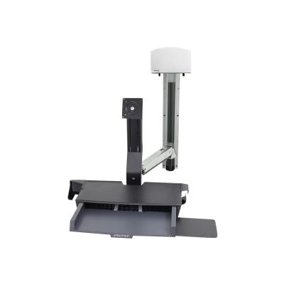 Ergotron StyleView Sit-Stand Combo System with Worksurface - mounting kit - for LCD display / keyboard / mouse / barcode scanner / CPU ORKSURFCE CPU HOLDER