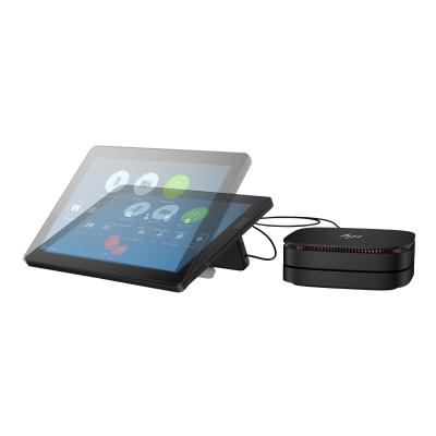 """HP Elite Slice G2 Audio Ready with Zoom Rooms - USFF - Core i7 7700T 2.9 GHz - vPro - 16 GB - SSD 128 GB - LCD 12.3"""" (Language: English / region: United States)"""