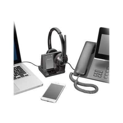 Poly Savi 8200 Series W8220-M - Microsoft - headset (North America) SFT CERT DECT 6.0 NA