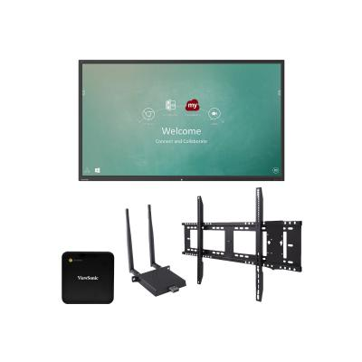 "ViewSonic ViewBoard IFP9850 Chrome Bundle 1 98"" Class (97.5"" viewable) LED display - 4K P660"
