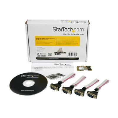 StarTech.com 4 Port RS232 Mini PCI Express Serial Card w/ 16650 UART (MPEX4S552) - serial adapter 0CTLR