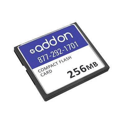 AddOn 256MB Cisco Compatible Compact Flash - flash memory card - 256 MB - CompactFlash ompatible 256MB Factory Origin al Compact Flash