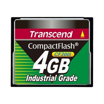 Transcend CF200I Industrial Grade - flash memory card - 4 GB - CompactFlash l (4GB)