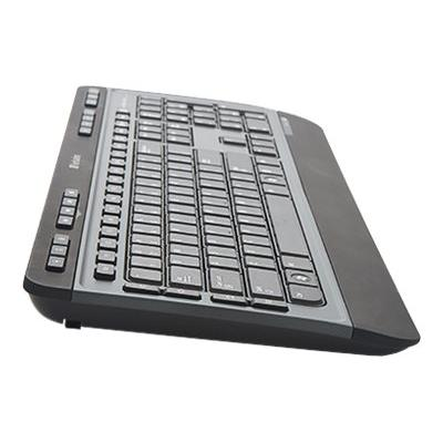 Verbatim Wireless Multimedia Keyboard and 6-Button Mouse Combo - keyboard and mouse set - black