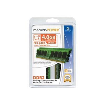 Centon memoryPOWER - DDR2 - 4 GB: 2 x 2 GB - DIMM 240-pin - unbuffered  MEM