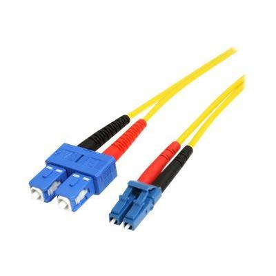 StarTech.com 4m Fiber Optic Cable - Single-Mode Duplex 9/125 - LSZH - LC/SC - OS1 - LC to SC Fiber Patch Cable (SMFIBLCSC4) - patch cable - 4 m - yellow  CABL